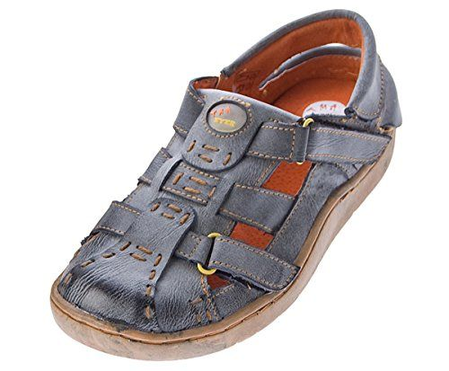 Damen Comfort Leder Sandaletten Schwarz Grün Grau Schuh used Look echt Leder Pantoletten Sandalen - http://on-line-kaufen.de/tma/damen-comfort-leder-sandaletten-schwarz-gruen