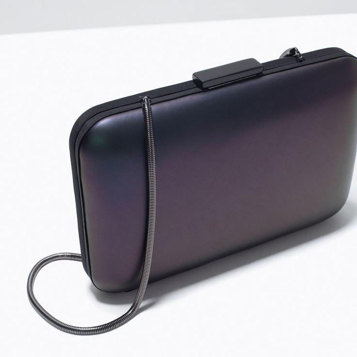 ZARA - SHOES & BAGS - METALLIC BOX CLUTCH