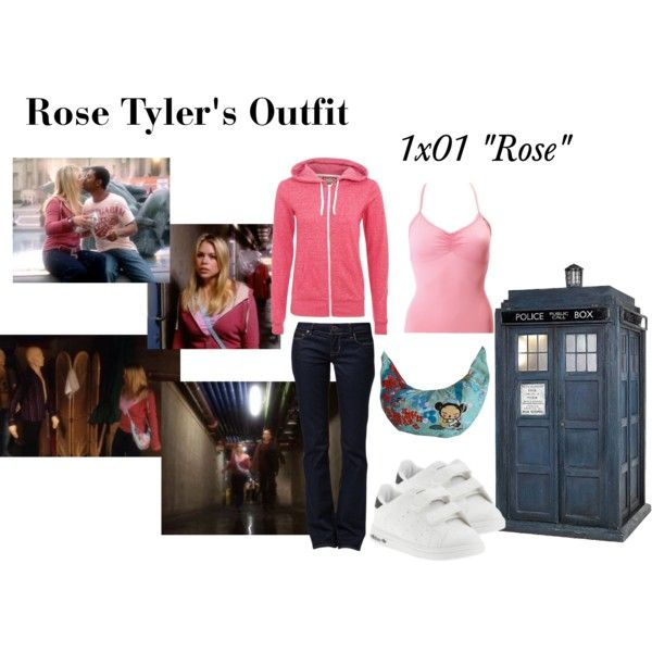 """Rose Tyler's Outfit from """"Rose"""" by erulisse17 on Polyvore featuring polyvore, fashion, style, GUESS, Sansha, adidas, women's clothing, women's fashion, women and female"""