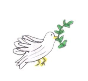 περιστέρι-ειρήνης-dove-of-peace-Σεμανούρ-Μειονοτικό Σχολείο Λυκείου-Δ΄Τάξη-2015'16