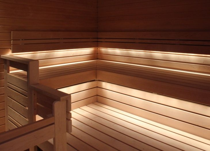 simple sauna lights