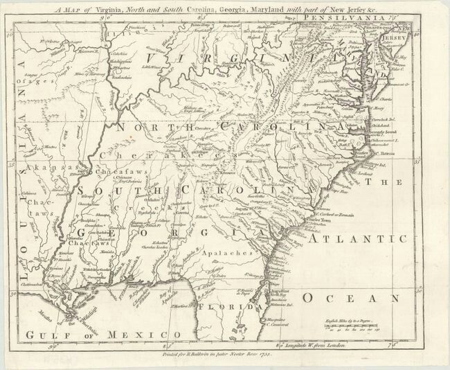 Colonial Map Of Georgia.Colonial Southeast United States Baldwin Robert A Map Of Virginia