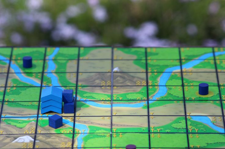 Gaming out in the garden.  #boardgame #kommands #garden #gaming #tabletopgame