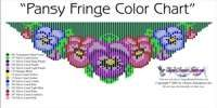 Pansy Fringe Necklace Printable Bead Graph for Beading