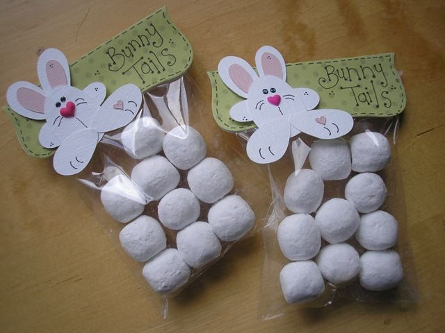 86 best easter treat bags and boxes images on pinterest easter bunny tails easter treat bagese are filled with toffee bon bons negle Choice Image
