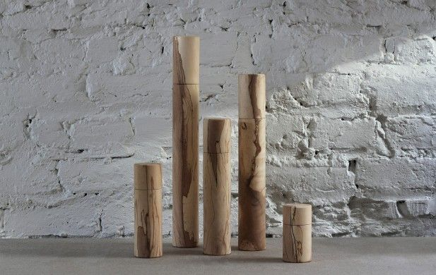 Spalted Irish Beech Peppermills | Makers & Brothers | LDF | Makers&Brothers | Pepper Mill | Minimal | Kitchen | Design and Craft | Matt Jones | Grinder | Exclusive | London Design Festival