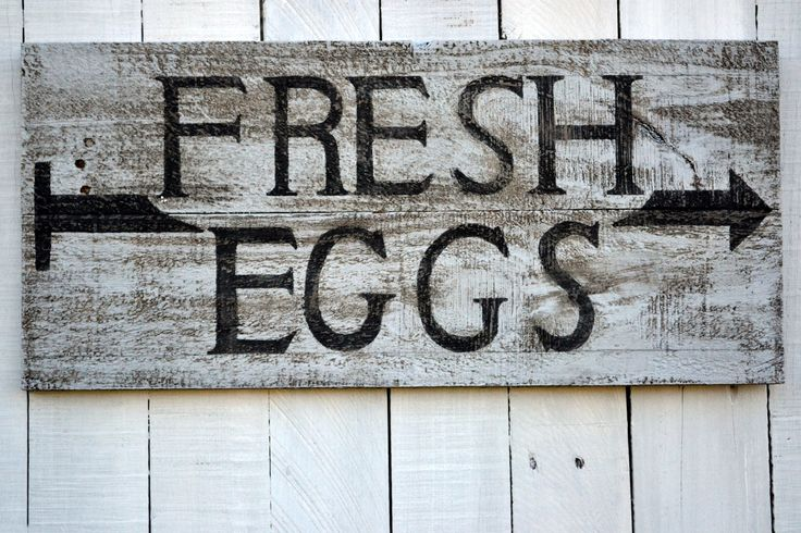 Wall Art Signs Kitchen : Rustic wood signs fresh eggs sign vintage