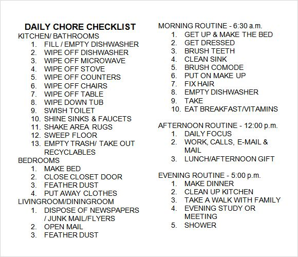 chore chart template for multiple kids - Google Search