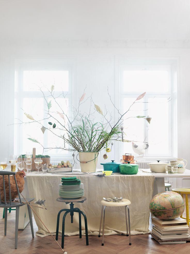 Easter table setting, påsk dukning, Cervera