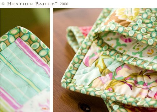 Continuous quilt binding by Heather Bailey