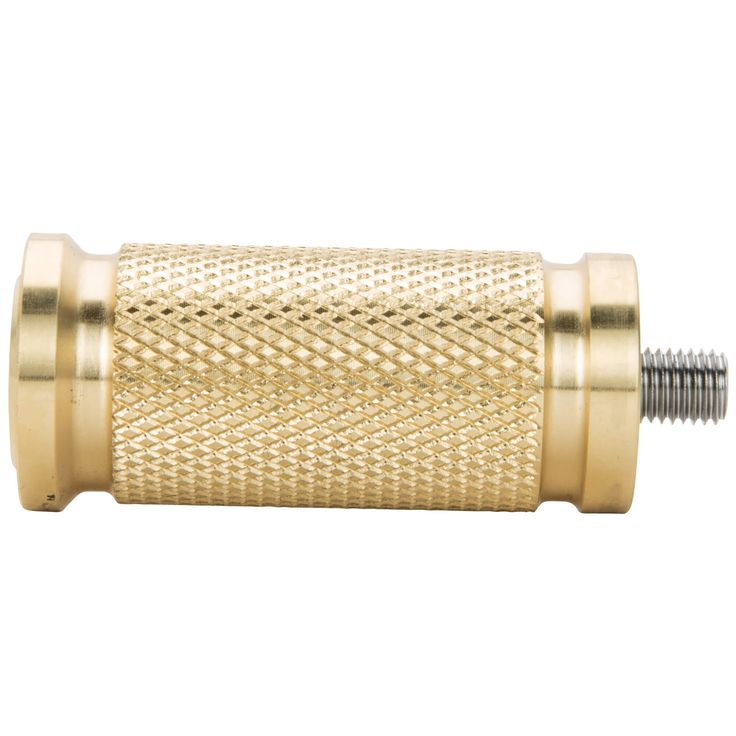 Pursuit Shifter Peg - Brass Matching the Pursuit Foot Pegs in style and creed, the Pursuit Shifter Peg is exactly what it needs to be. The heavy knurling ensures positive, non-slip contact when shifting. Fits Harley-Davidson motorcycles and any others that feature a shifter that accepts 1/4-28 threads. Machined out of solid brass and guaranteed to handle all the miles you can throw at it. $32.95 US