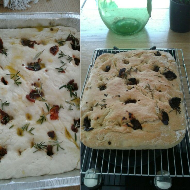 Focaccia with Rosemarie and dried tomatoes