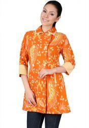 TRE Batik  TRE Batik Coat Batik Tasik Orange