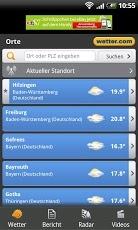 Die Android App von wetter.com!  - 7-Tage-Vorhersage - Aktuelles Wetter - Suche und GPS Ortung - Regenradar (DE + Bundesländer, Spanien) - Wetterwarnungen (DE) - Wettervideos - Redaktionelle Vorhersage  Und das alles übersichtlich präsentiert mit der gewohnten Genauigkeit von wetter.com!  https://play.google.com/store/apps/details?id=com.wetter.androidclient