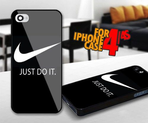 Nike Just Do It for iPhone 4 / 4s Black case | iPhoneCustomCase - Accessories on ArtFire