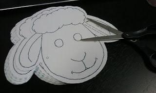 Sunday School Craft - Christmas Sheep Mask............shepherds, angels, herald, stable, flock, lamb, animal, children, kids, bible, Jesus, baby, Mary, Joseph