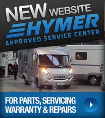 New Hymer Motorhomes website