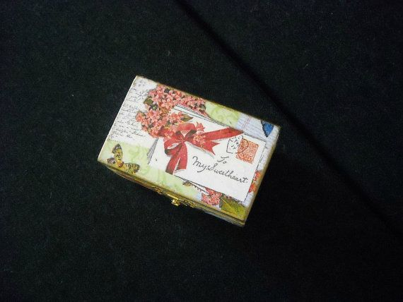Ring Bearer Wooden Decoupage Box by HandmadeByFiona on Etsy, $15.00