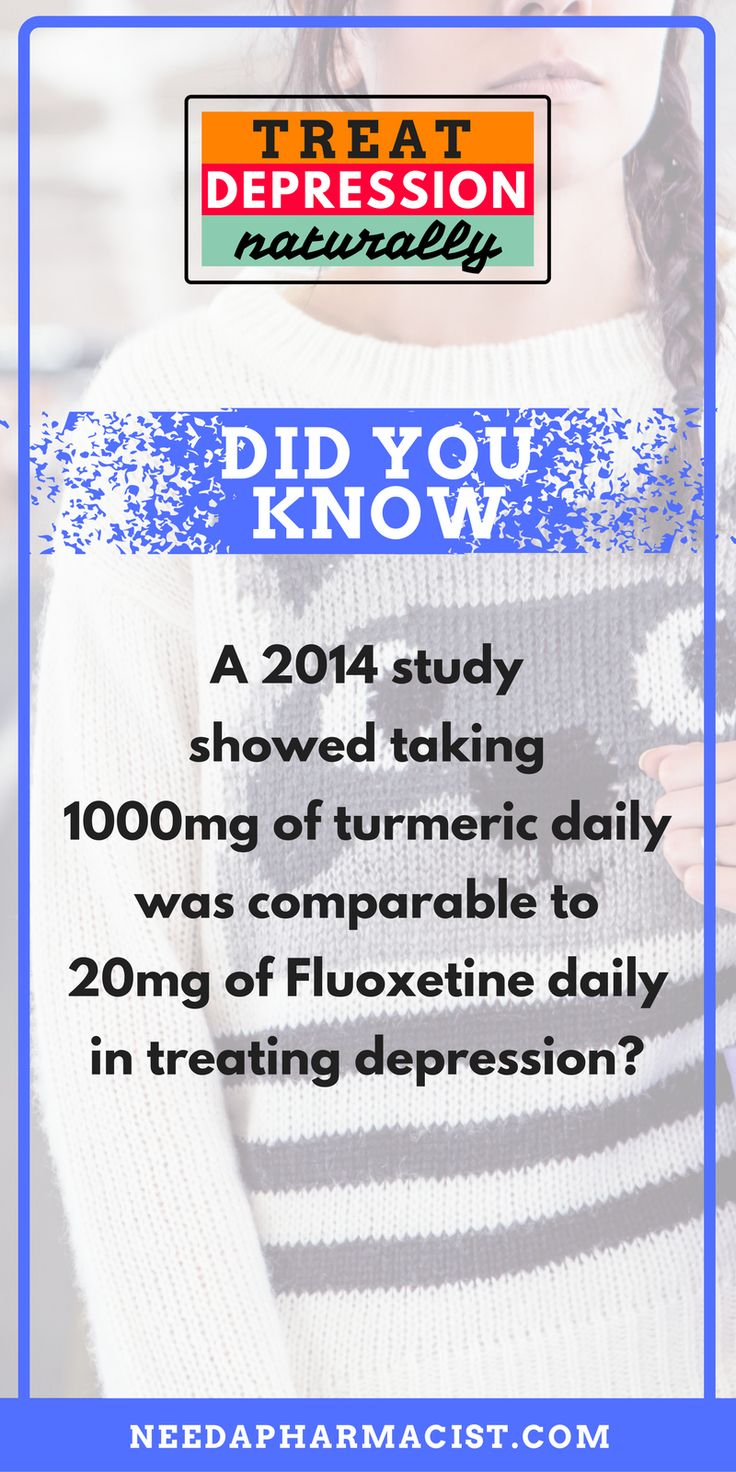 {Read more facts on how to treat depression naturally, no drugs involved !!!} * * * Curcumin, the active component in turmeric is a potent antioxidant, painkiller and also can help to lift your mood. Taken daily, it can be as effective as prozac for depression, as shown in a 2014 study.