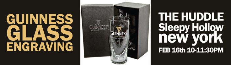 Guinness Glass Engraving The Huddle Bar. 20 craft beers on tap, 4 wines on tap, homemade burgers made with our 3 meat blend.