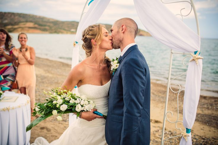 LAURA arm sheaf bridal bouquet with lisianthus and turquoise ribbon by MOMENTS