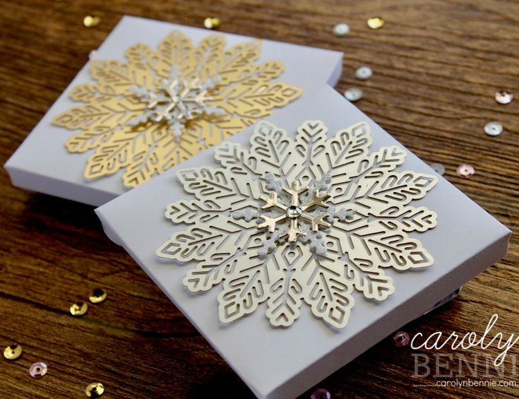 Foil Snowflake Chocolate Boxes carolynbennie.com