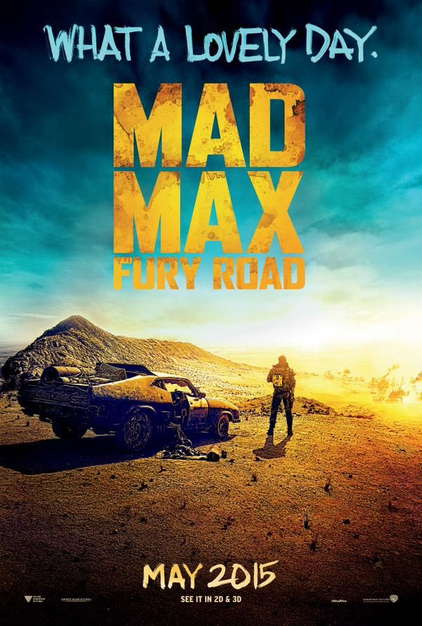 New Poster For Tom Hardy's Mad Max Fury Road Mad max