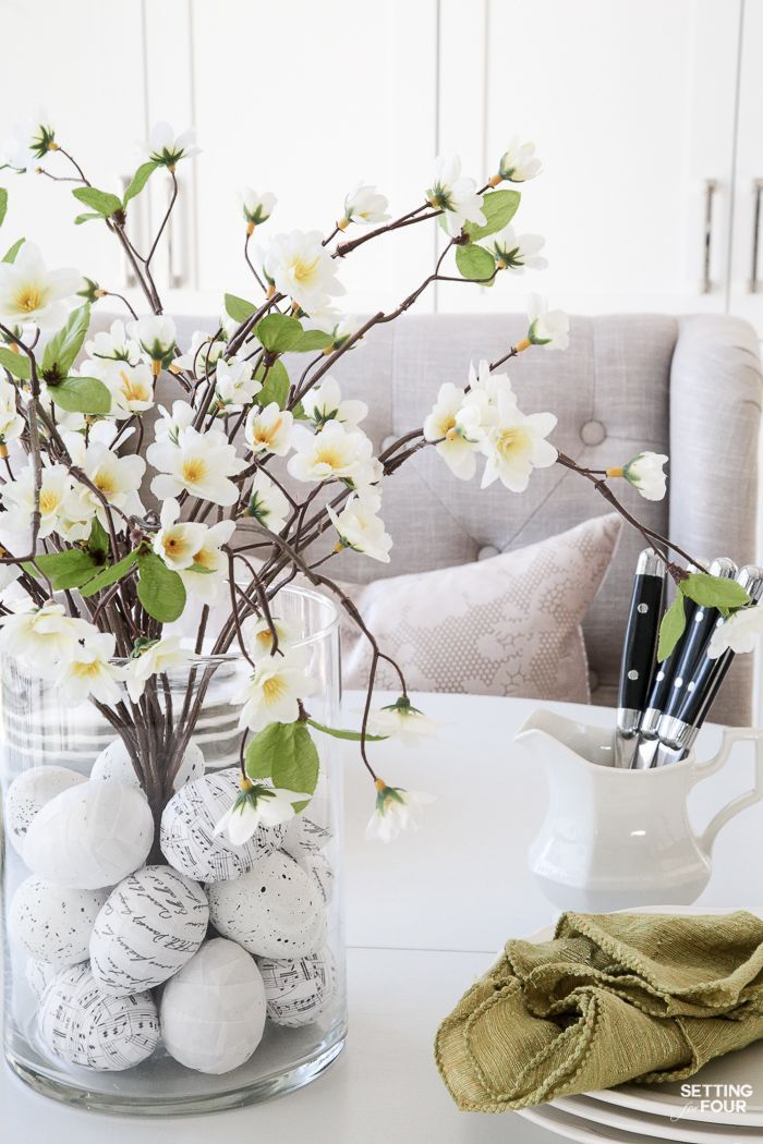 floral arrangement with diy easter egg filler crafty easter rh pinterest com