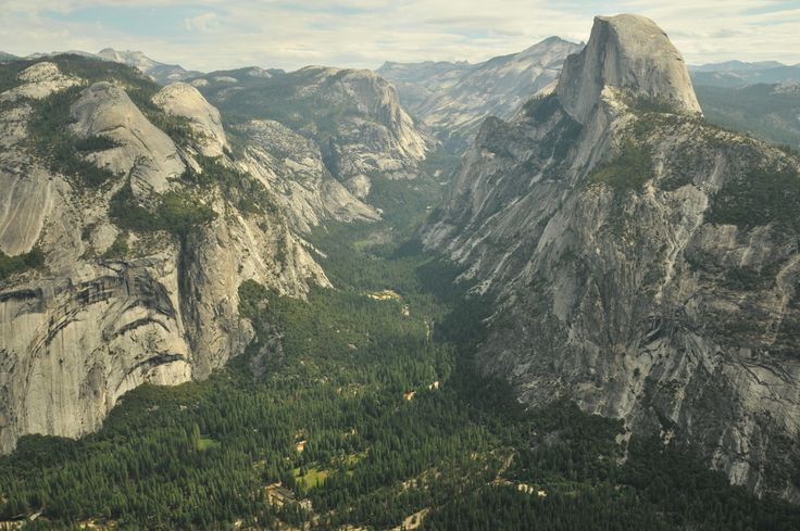 Yosemite Valley, California   This 8-mile glacial valley is covered in pine and surrounded by granite summits like Half Dome and El Capitan. The California beauty is a hot spot for tourists and photographers and it also offers scenic trails for hikers.