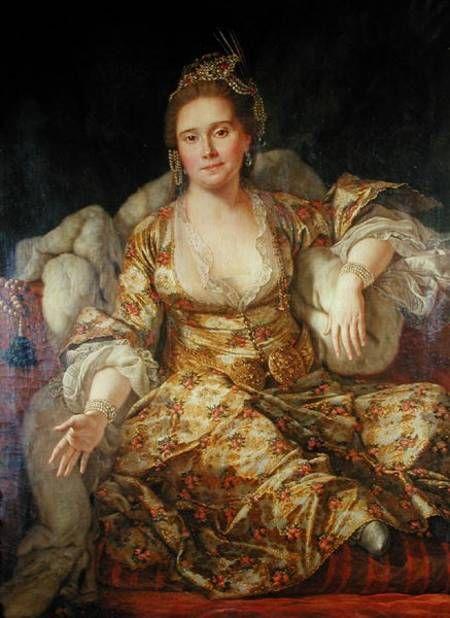 Annette Comtesse de Vergennes in Oriental Costume (1760); Antoine de Favray (1706–1792, French)