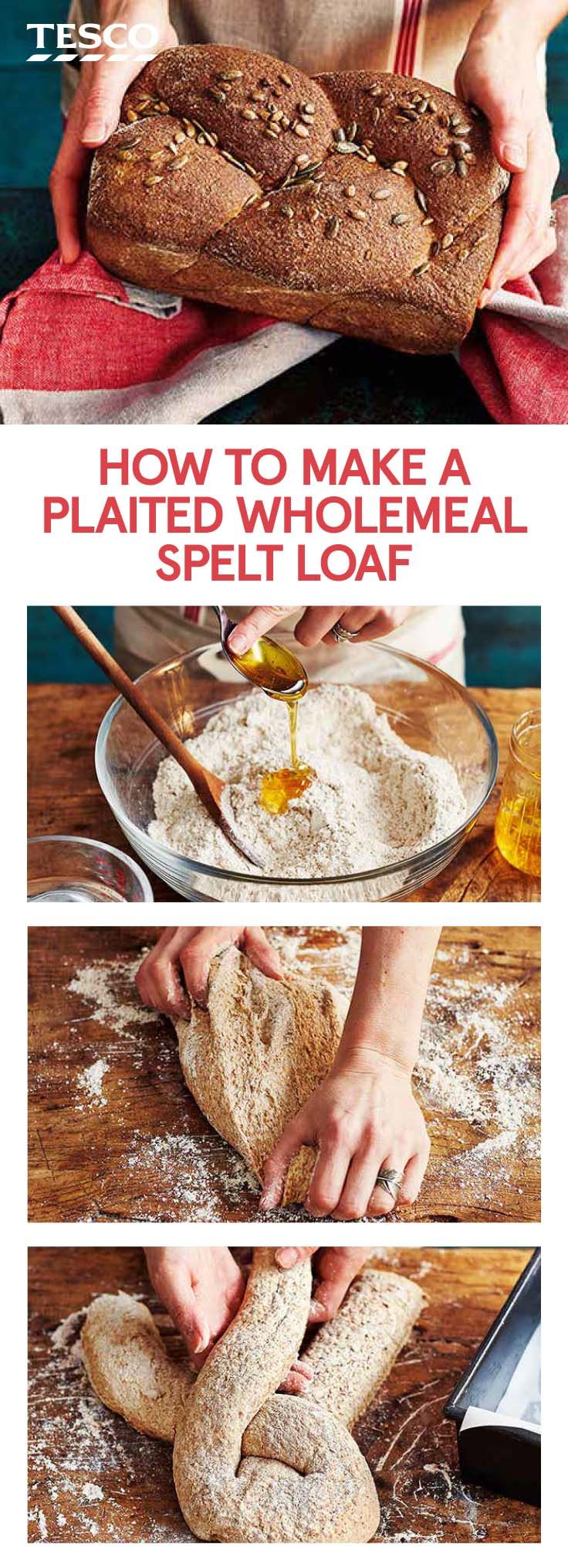 Try our wholemeal bread recipe, made with spelt flour, for a more nutritious spin on your classic loaf. Not only is it high in fibre, but it is also a great source of protein. | Tesco