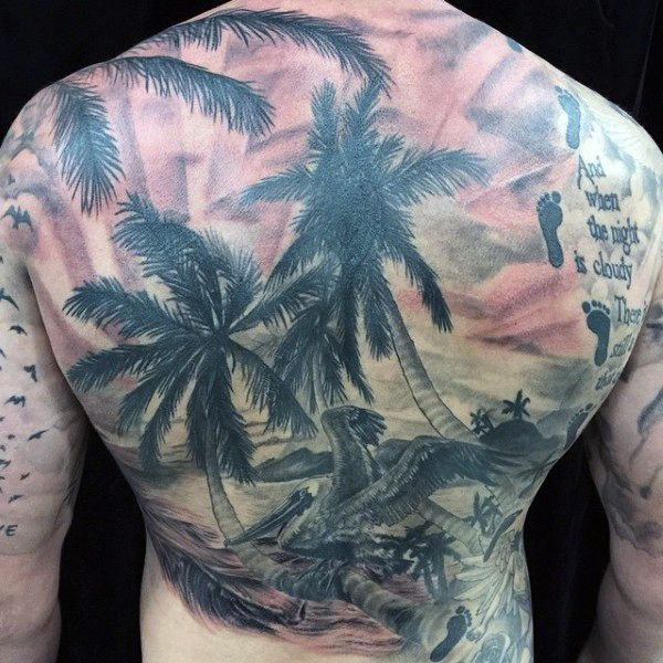 256 best images about back tattoos on pinterest solar for Beach scene tattoos