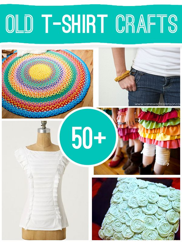 Loved all of these *50+ projects to make using old t-shirts