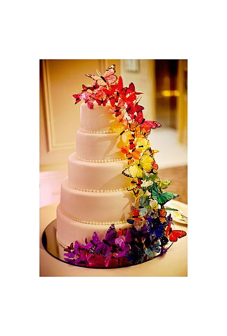 Brides: Rainbow Wedding Cakes for Summer :
