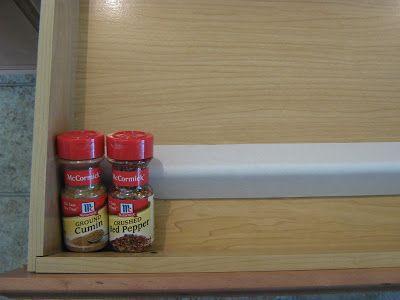 Using cardboard corners to make a free spice drawer organizer Fake-It Frugal: In-Drawer Spice Organizer...FREE!