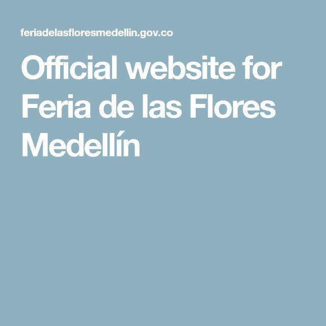 Official website for Feria de las Flores Medellín