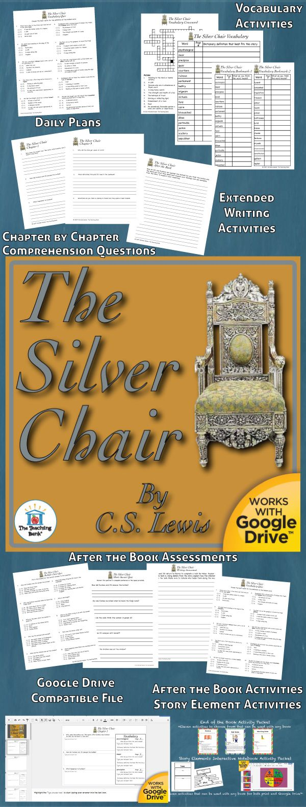 The narnia covers book 4 the silver chair - The Silver Chair Novel Study Is A Common Core Standards Aligned Book Unit To Be Used With The Silver Chair Book 6 In The Chronicles Of Narnia Series By C