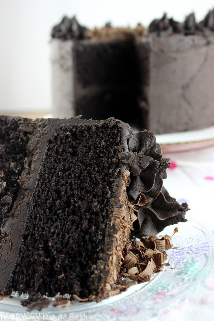 Double Dark Chocolate Cake Recipe Death By Chocolate Cake Chocolate Cake Chocolate