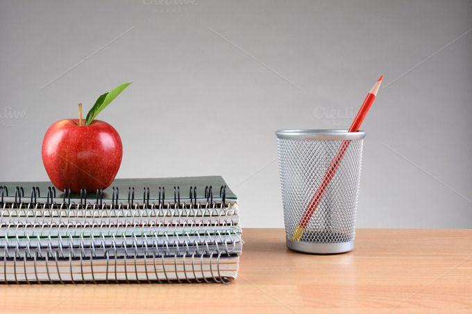 Teachers Desk Notebooks Apple Pencil by Steve Cukrov Photography on…