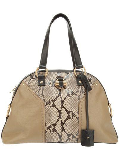 YVES SAINT LAURENT Python Skin \u0026#39;Muse\u0026#39; Tote   Handbag   Pinterest
