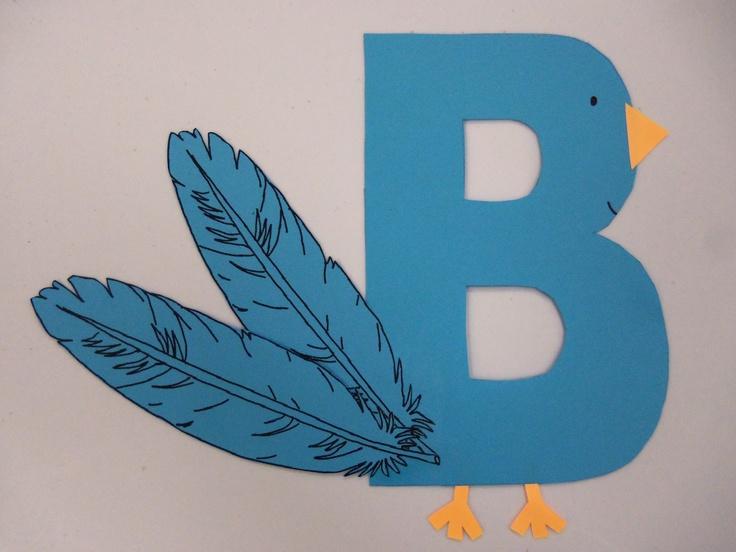 Letter B Bird Craft Tecnorac Com
