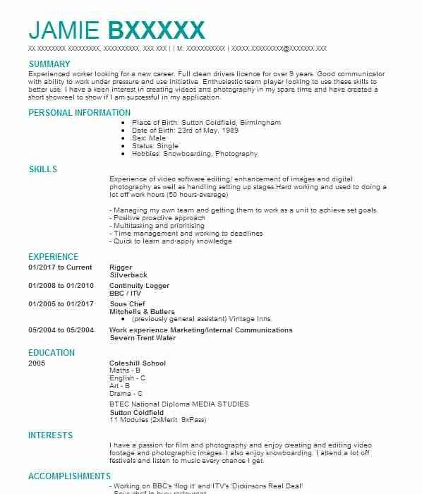 312 Film Cv Examples Entertainment And Media Cvs Livecareer Cv Design Template Downloadable Resume Template Cv Examples