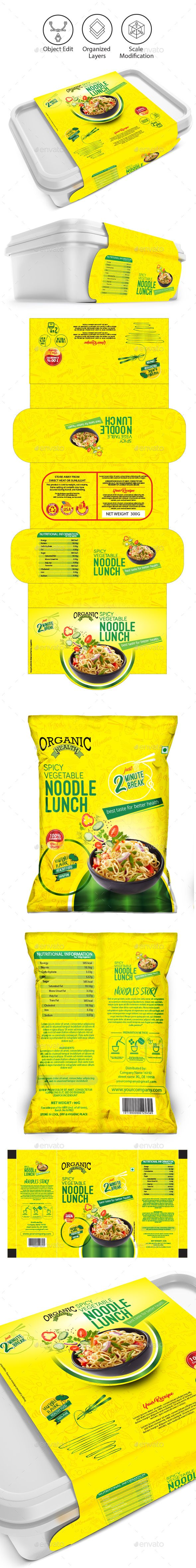 Noodles packaging templates - #Packaging Print #Templates Download here: https://graphicriver.net/item/noodles-packaging-templates/19054129?ref=alena994