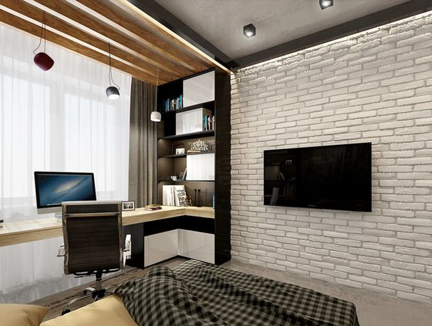 Вместительная столешница, естественное освещение, продуманная система хранения – можно ли оформить комфортное рабочее место в спальне? Собрали 10 вдохновляющих идей российских дизайнеров в одном месте