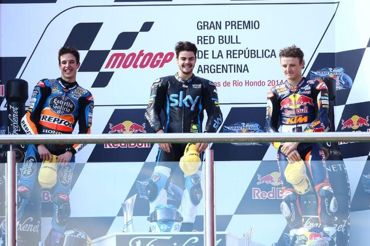 Alex Marquez, Fenati, Miller, Moto3 race, Argentinian MotoGP 2014