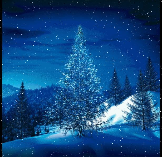 animated christmas and winter snow | Winter landscape animations and scenic wintery snow moving clip art
