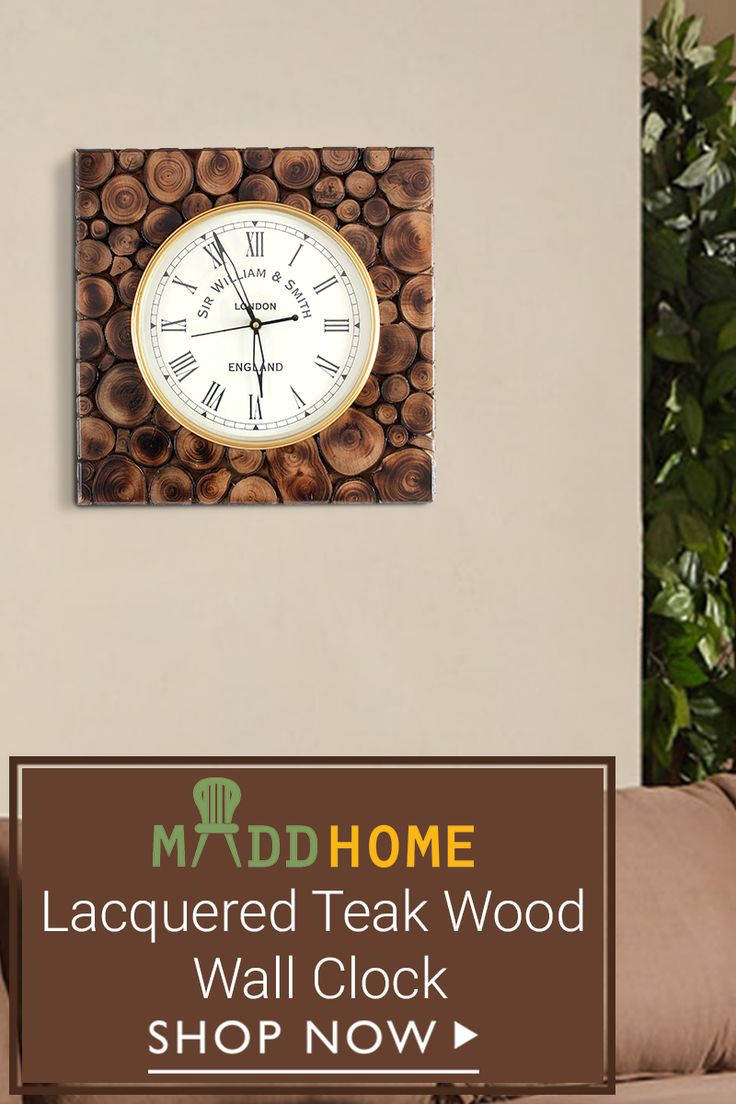 Bring home this Teak Lacquered Decorative #wallclock for it is handcrafted and will give a perfect look to your #decor #wallart #decorativewallclocks Shop now for exciting offers: http://bit.ly/2nydyH9