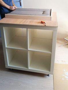 un meuble langer avec du rangement bidouilles ikea - Ikea Table A Langer Sur Le Lit