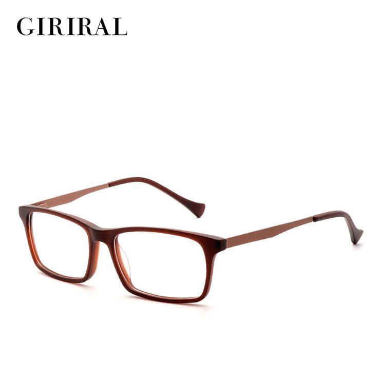 Accetate men Eyeglasses frame vintage designer brand clear myopia optical glasses frame #BC3584