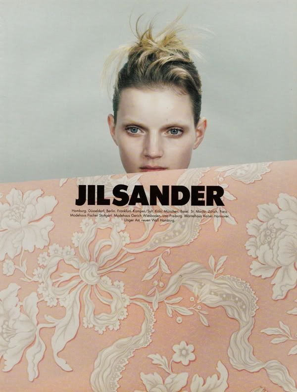 Guinevere Van Seenus in a Jil Sander ad by Craig McDean. Probably my favourite ad campaign.